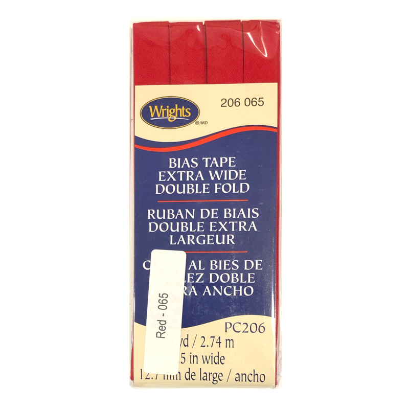 Red - Bias Tape Double Fold Extra Wide