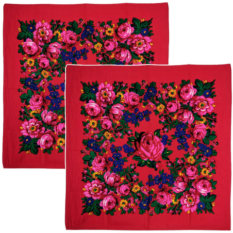 Red - Kookum Scarf Sets