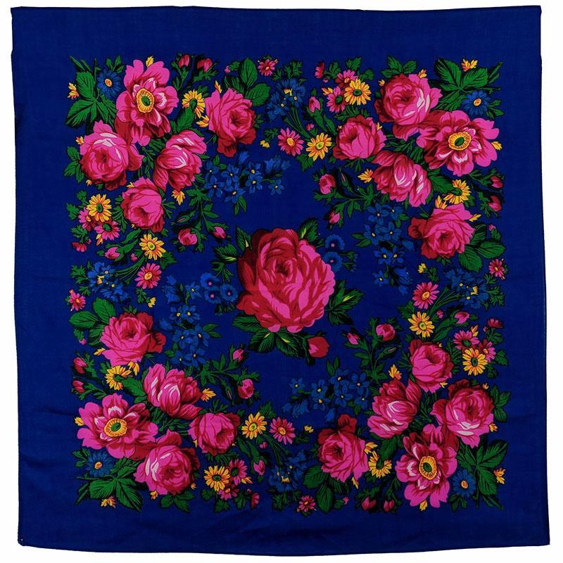 Royal Blue - Floral Scarves