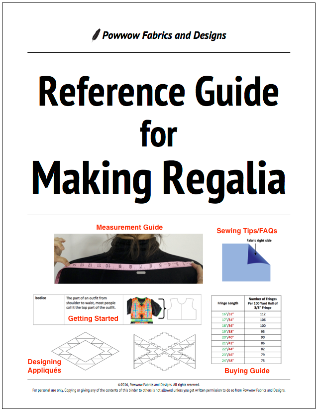 Reference Guide for Making Regalia
