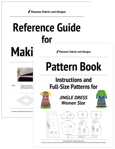 BUNDLE: Womens Jingle Dress Outfit Pattern Book + Reference Guide for Making Regalia