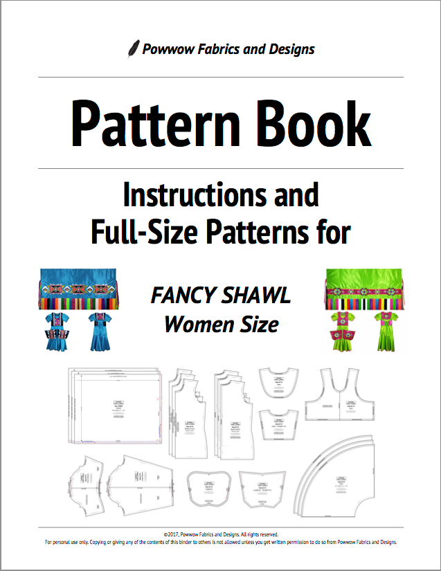 Womens Fancy Shawl Outfit Pattern Book