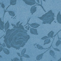 Antique Blue - Floral Satin