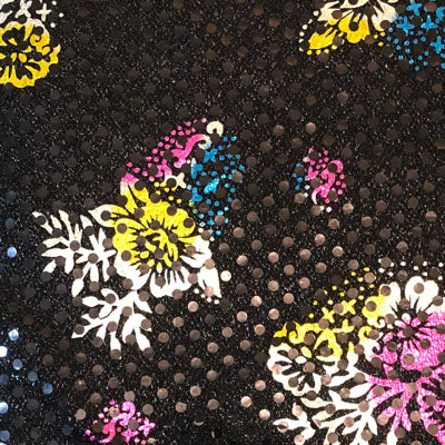 Black - Floral Sparkle Dot