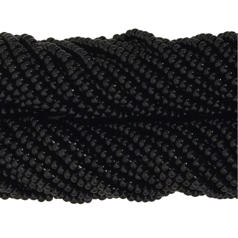 Black Opaque - Size 10 Seed Beads