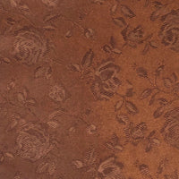 Brown - Floral Satin
