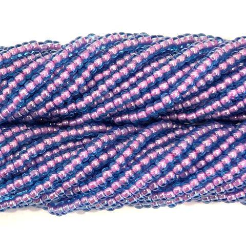 Color Lined Blue Amethyst - Size 10 Seed Beads