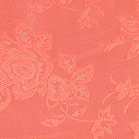 Coral - Floral Satin