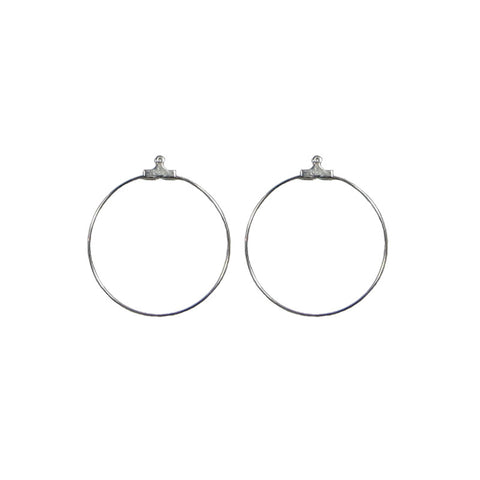 "Crimp Hoop (Stainless) - 1"" Round"