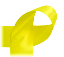 "Crystal Yellow - 7/8"" Ribbon"