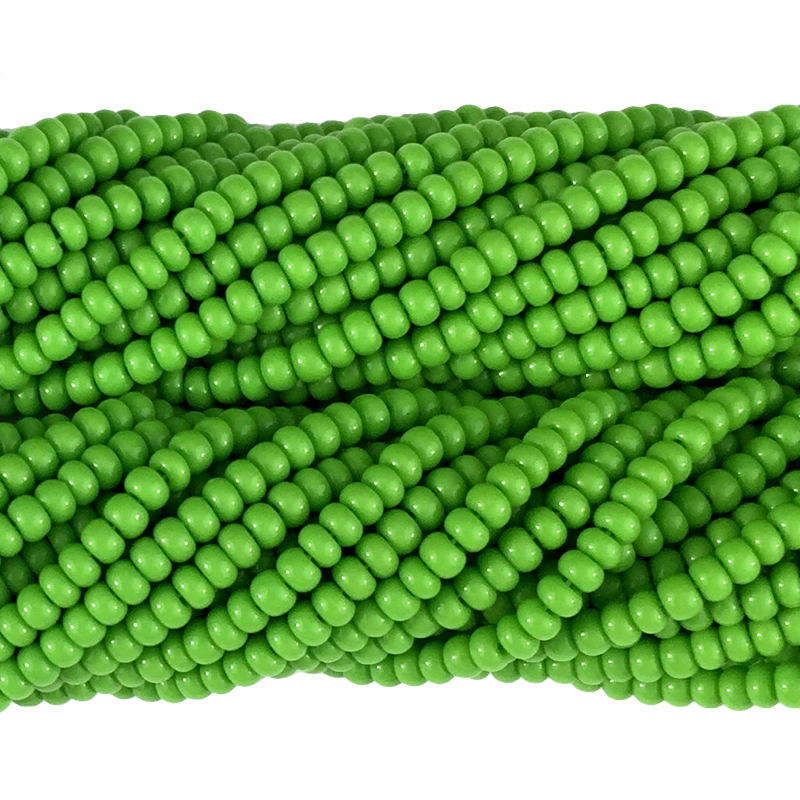 Dark Apple Green Opaque - Size 10 Seed Beads