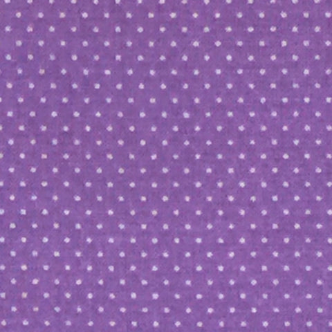 Dark Lavender - Cotton Pin Dot