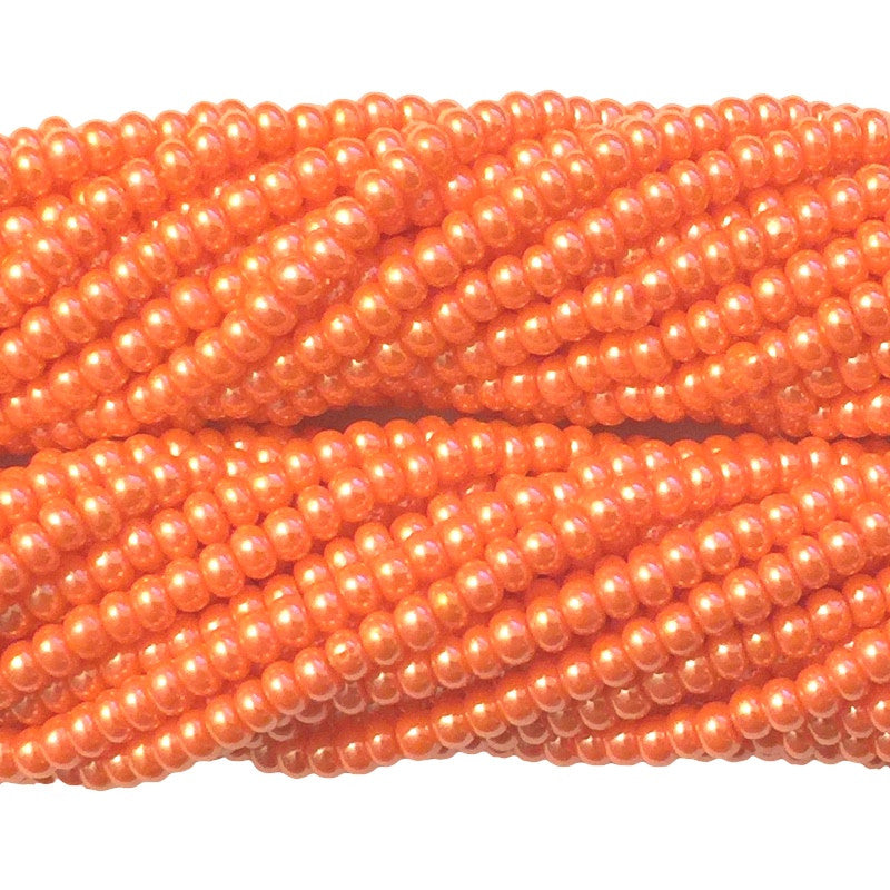 Dark Orange Luster Opaque - Size 10 Seed Beads