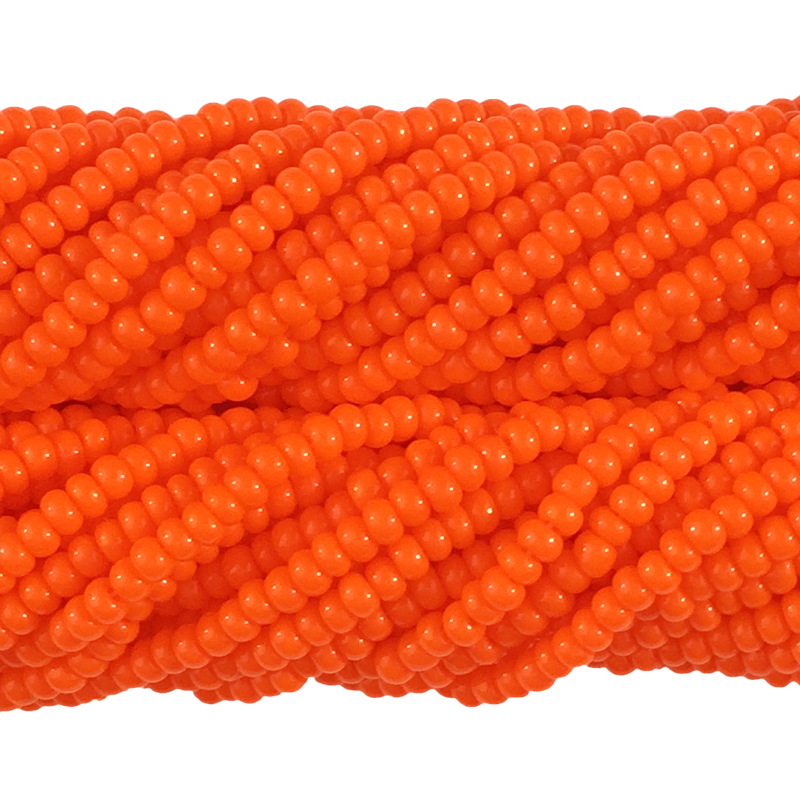 Dark Orange Opaque - Size 10 Seed Beads