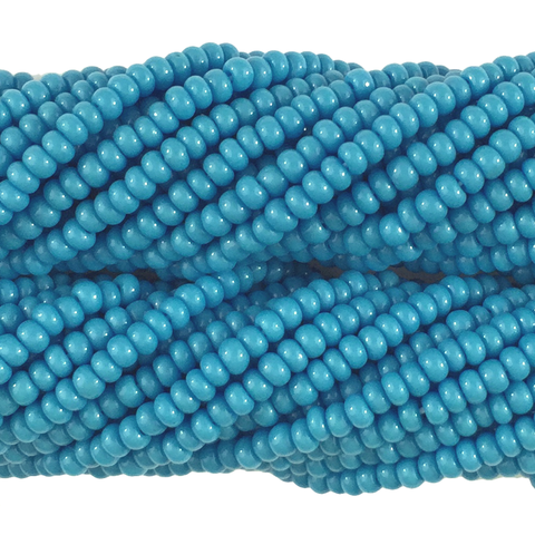 Dark Turquoise Blue Opaque - Size 10 Seed Beads