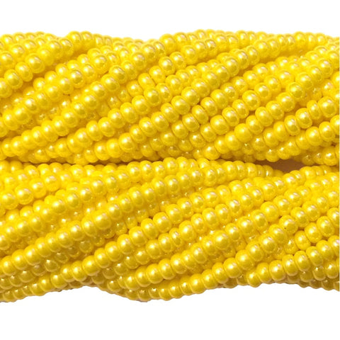 Dark Yellow Luster Opaque - Size 10 Seed Beads