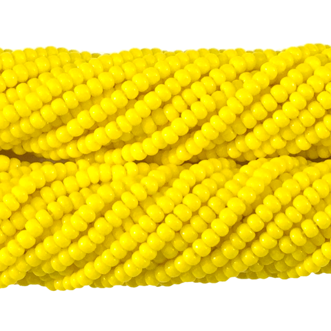 Dark Yellow Opaque - Size 10 Seed Beads