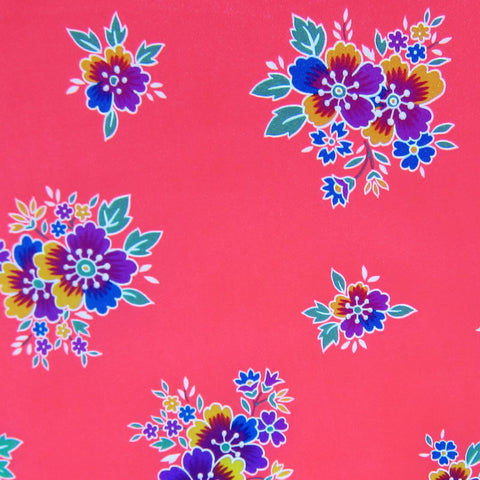 Neon Pink / Pattern #1 - Crystal Floral Satin