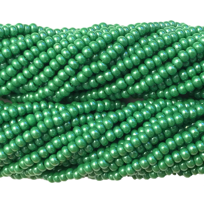 Green Luster Opaque - Size 10 Seed Beads