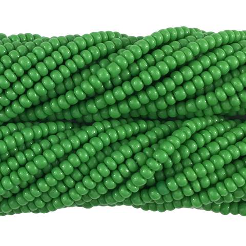 Green Opaque - Size 10 Seed Beads