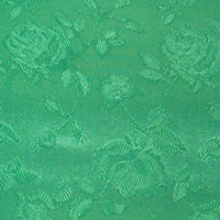 Emerald Green - Floral Satin