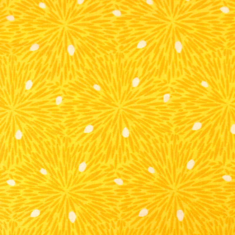 Lemon Yellow #2 - Cotton Calico