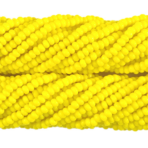Lemon Yellow Opaque - Size 10 Seed Beads