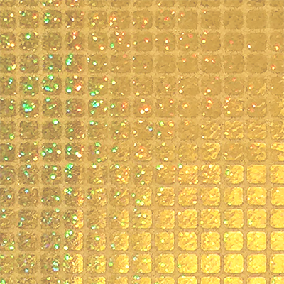 Light Gold - Sparkle Hologram Square