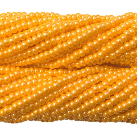 Light Orange Luster Opaque - Size 10 Seed Beads