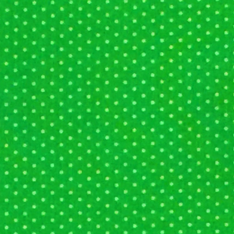 Lime Green - Cotton Pin Dot
