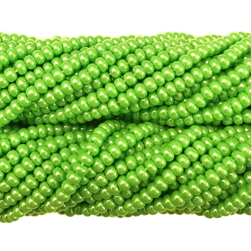 Lime Green Luster Opaque - Size 10 Seed Beads