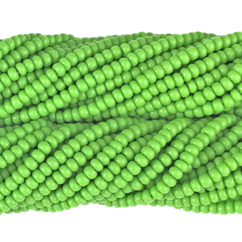 Lime Green Opaque - Size 10 Seed Beads