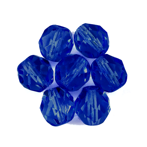 Montana Blue - Glass Fire Polished Beads, 8mm