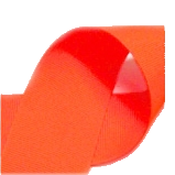 "Neon Orange - 3/8"" Neon Ribbon"