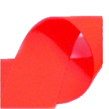 "Neon Red - 3/8"" Neon Ribbon"