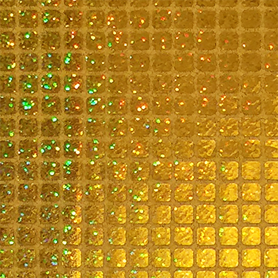 Gold - Sparkle Hologram Square