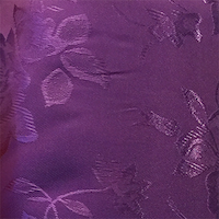 Purple - Floral Satin