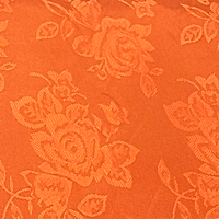 Light Orange - Floral Satin
