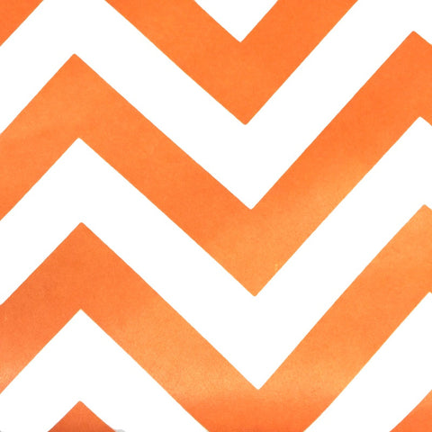 Orange - Chevron (Zigzag) Satin