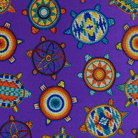 Purple #1 - Native Print Cotton