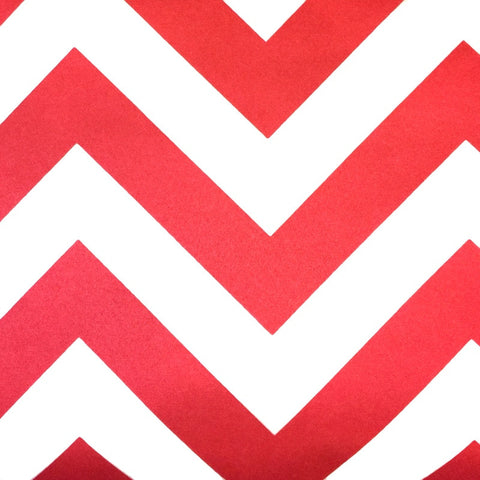 Red - Chevron (Zigzag) Satin