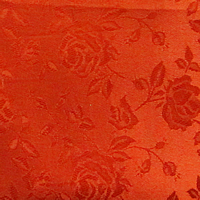 Rust - Floral Satin