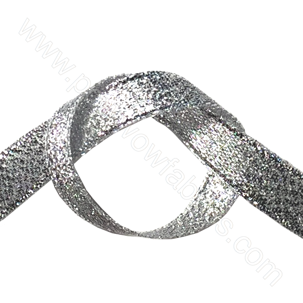 "Silver Metallic - 3/8"" Metallic Ribbon"