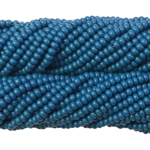Teal Blue Opaque - Size 10 Seed Beads