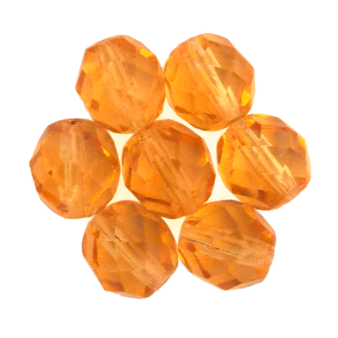 Topaz - Glass Fire Polished Beads, 8mm