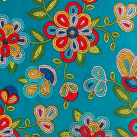 Turquoise #1 - Native Print Cotton