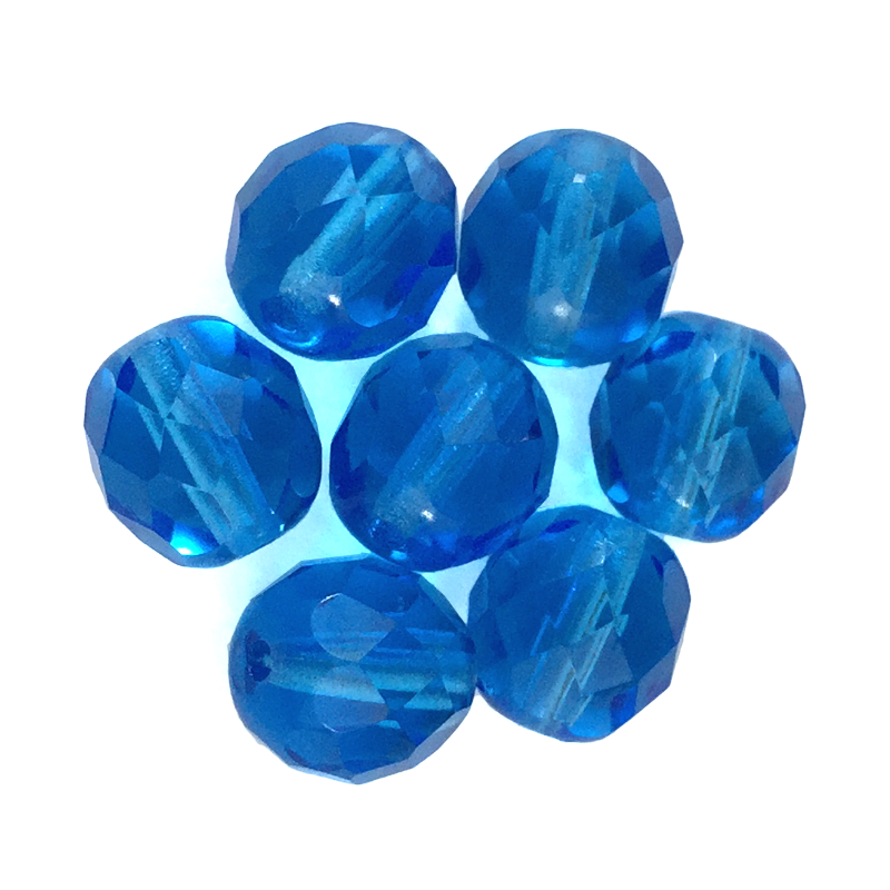Turquoise - Glass Fire Polished Beads, 8mm