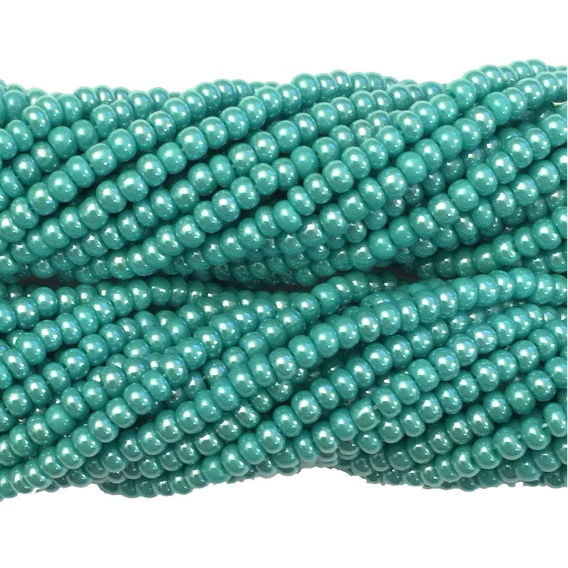 Turquoise Green Luster Opaque - Size 10 Seed Beads