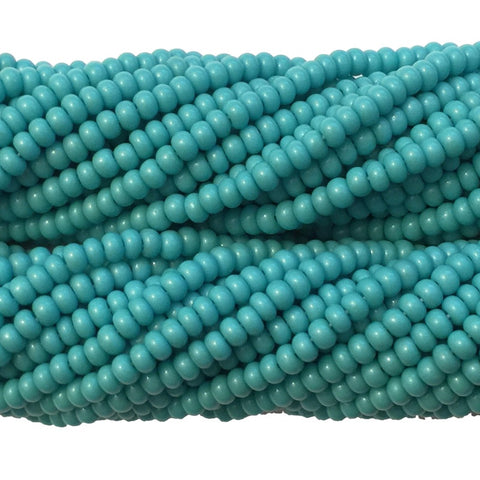 Turquoise Green Opaque - Size 10 Seed Beads