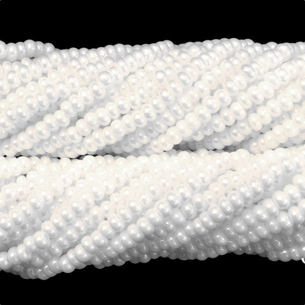 White Luster Opaque - Size 10 Seed Beads